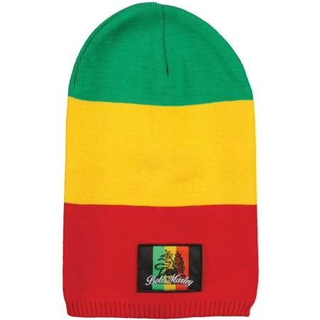 Bob Marley Men's Lion Beanie Red, Yellow & Green