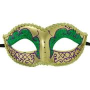 Envy Petite Mardi Gras costume Mask Purple w/Gold One Size