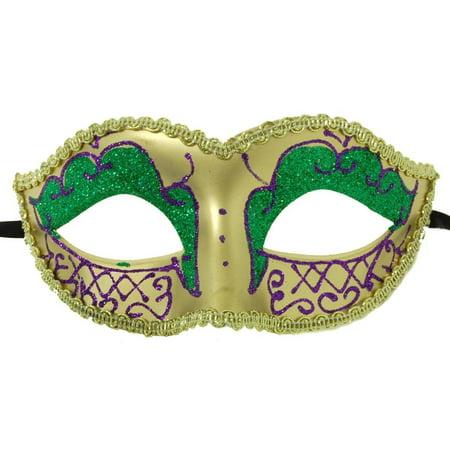 Petites Sorcieres Halloween (Envy Petite Mardi Gras costume Mask Purple w/Gold One)