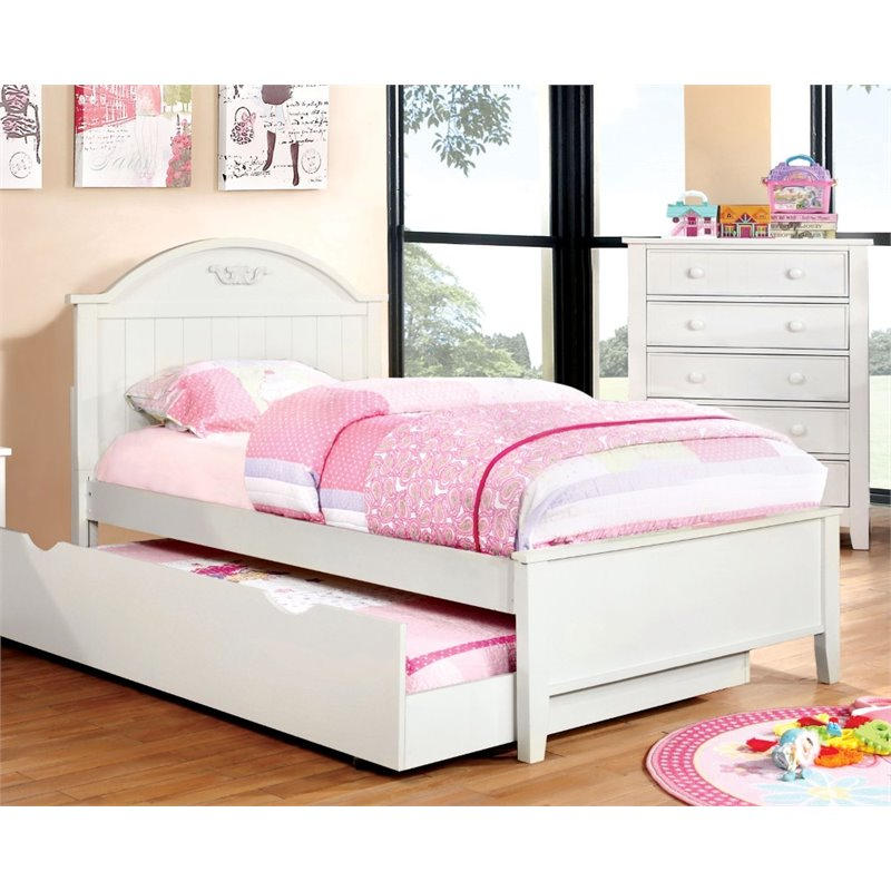Furniture of America Dugan Twin Platfrom Bed in White