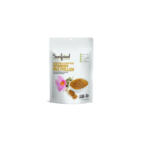 Sunfood Superfoods Wild-Crafted Spanish Bee Pollen, 8.0