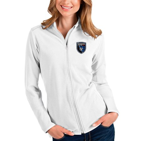 UPC 193373796882 product image for San Jose Earthquakes Antigua Women's Glacier Full-Zip Jacket - White | upcitemdb.com