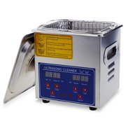 Commercial Ultrasonic Cleaner 2L Large Capacity Stainless Steel with Heater and Digital Timer for Electronic Tool Jewelry Watch Glasses Rings Dental/Lab/Hospital Instruments 110V
