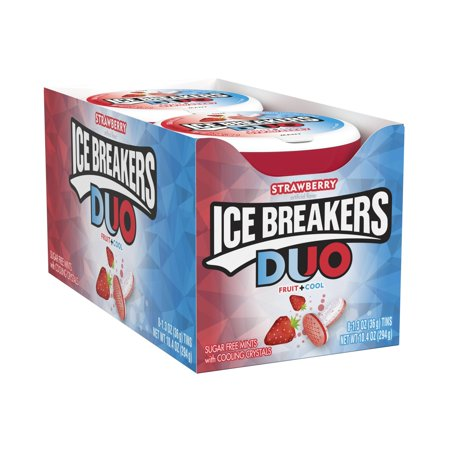 Ice Breakers, Sugar Free Duo Fruit & Cool Strawberry, 1.3 Oz, 8 - Icebreaker Cards