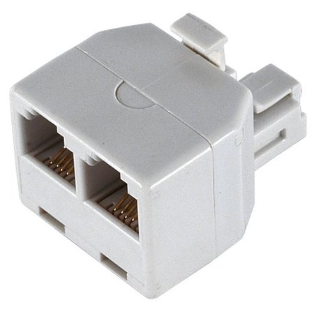GE 76191 Duplex Wall Jack Adapter, White