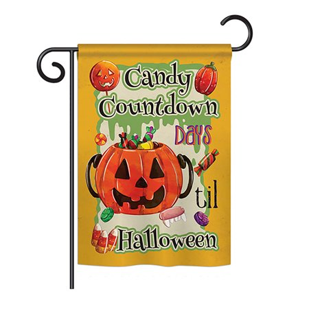 Ornament Collection - Candy Countdown Fall - Seasonal Halloween Impressions Decorative Vertical Garden Flag 13
