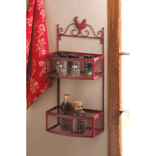 Zingz & Thingz Rooster Double Wall Rack