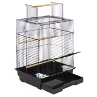 "Best Choice Products 24"" Bird Cage W/ Open Play Top - Ideal For Parakeets, Small Birds"