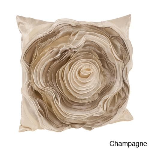 Filled Rose Design Pillow Champagne