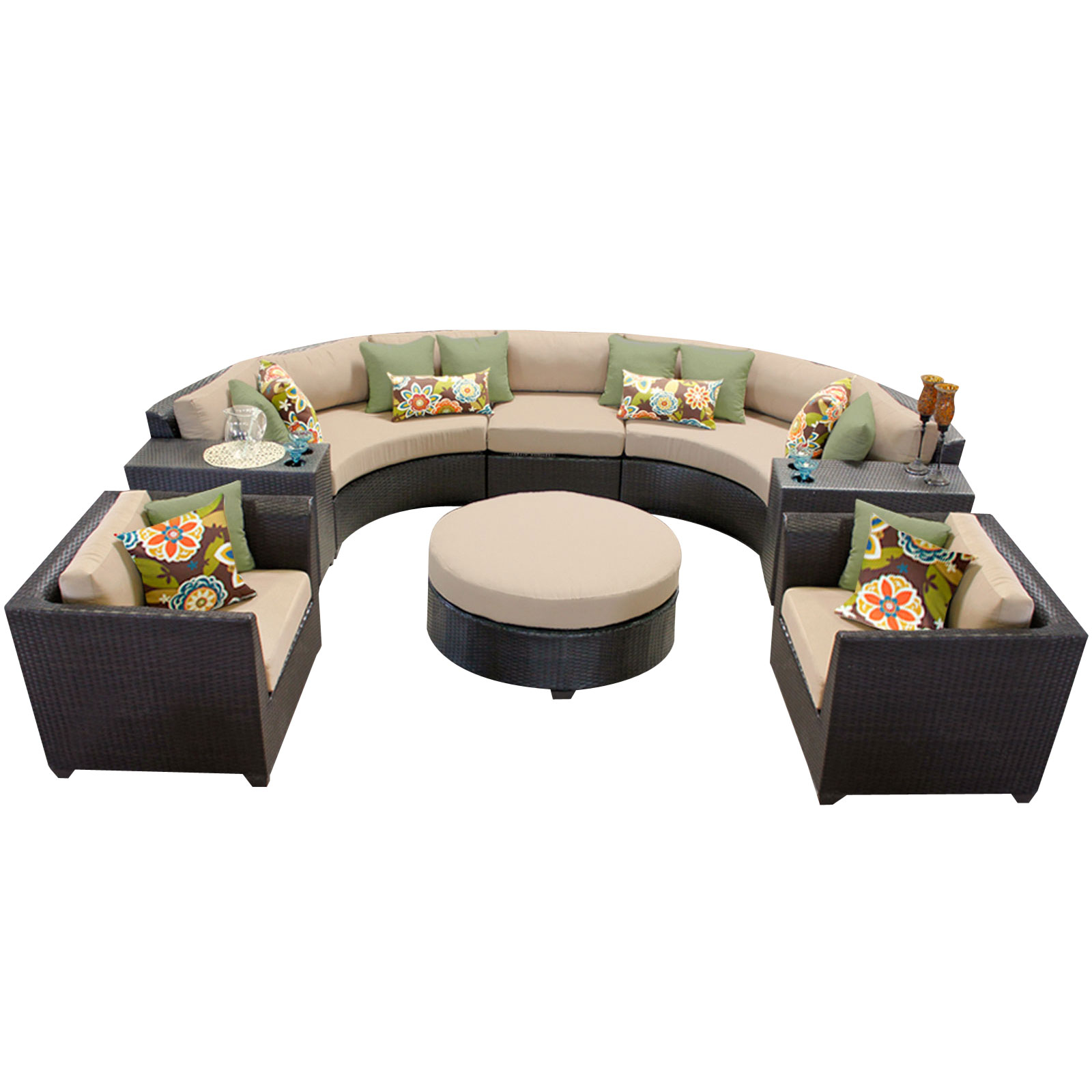 Bermuda 8 Piece Outdoor Wicker Patio Furniture Set 08e