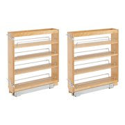 Rev A Shelf 5 Inch Wood Base Kitchen Under Cabinet Organizer, Maple (2 Pack)