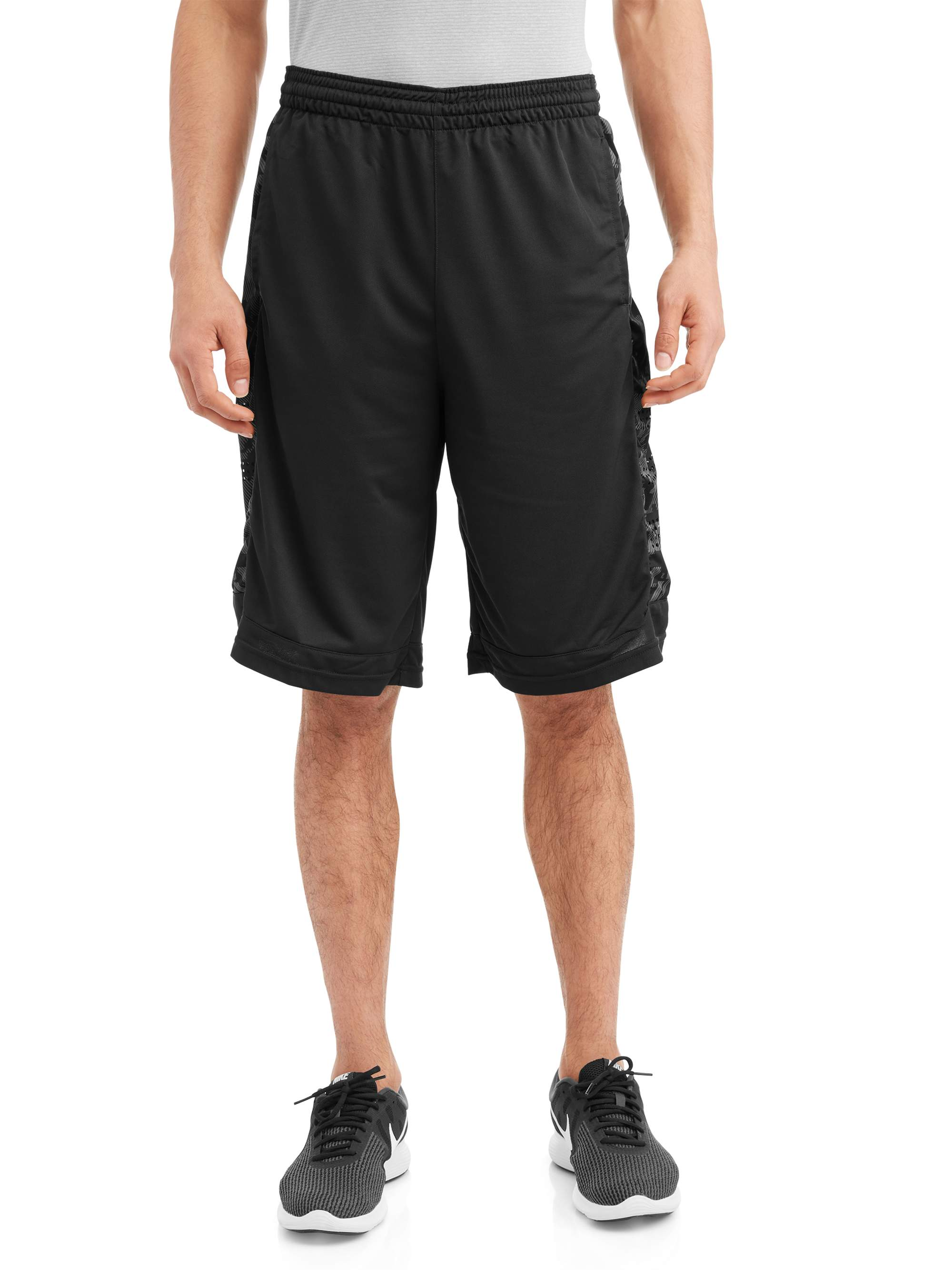Men's Woven Shorts with Printed Insert