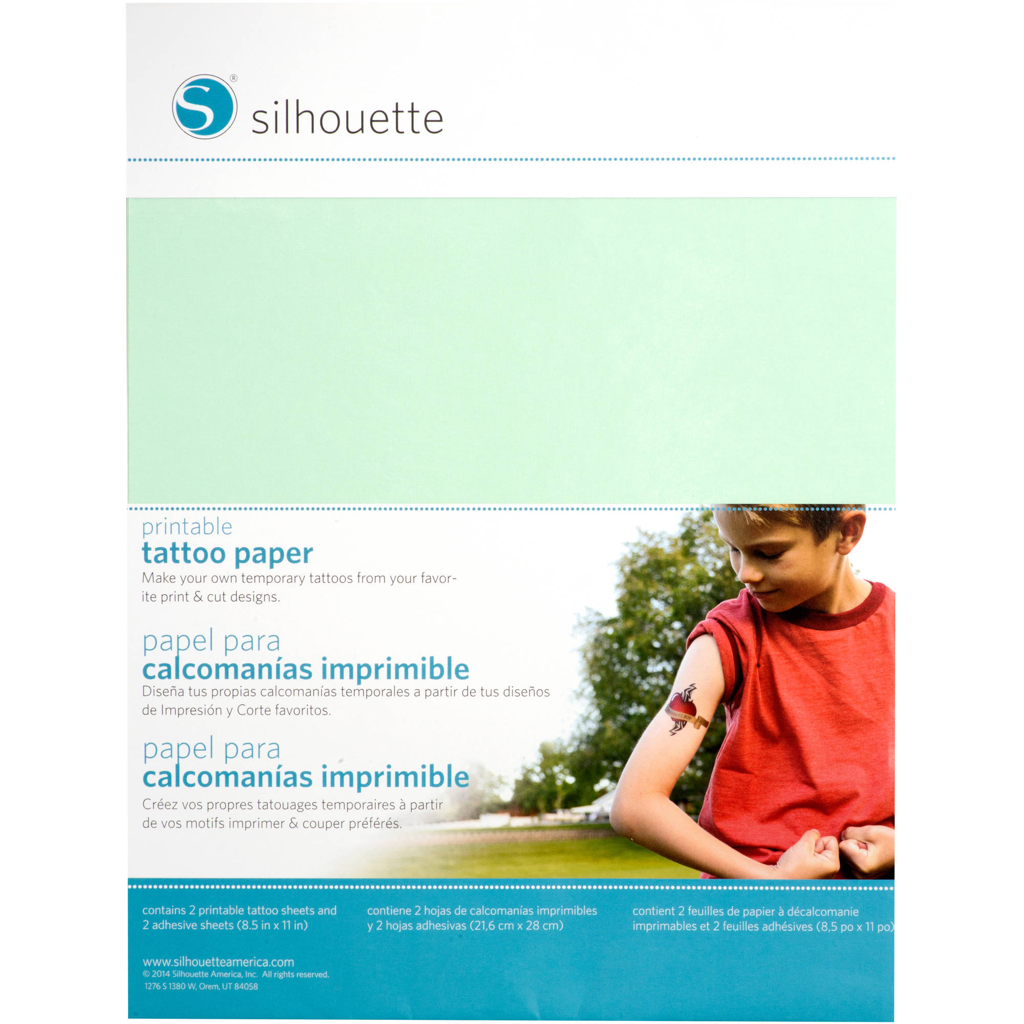 photo about Silhouette Printable Tattoo Paper titled Silhouette Momentary Tattoo Paper, 8.5\