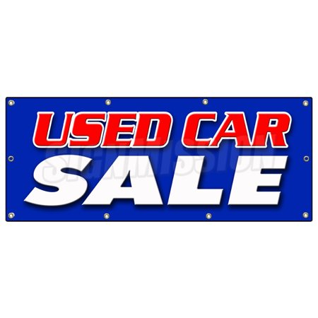 36 X96  Used Car Sale Banner Sign Cars Sell Sales Use Old Vehicles Signs