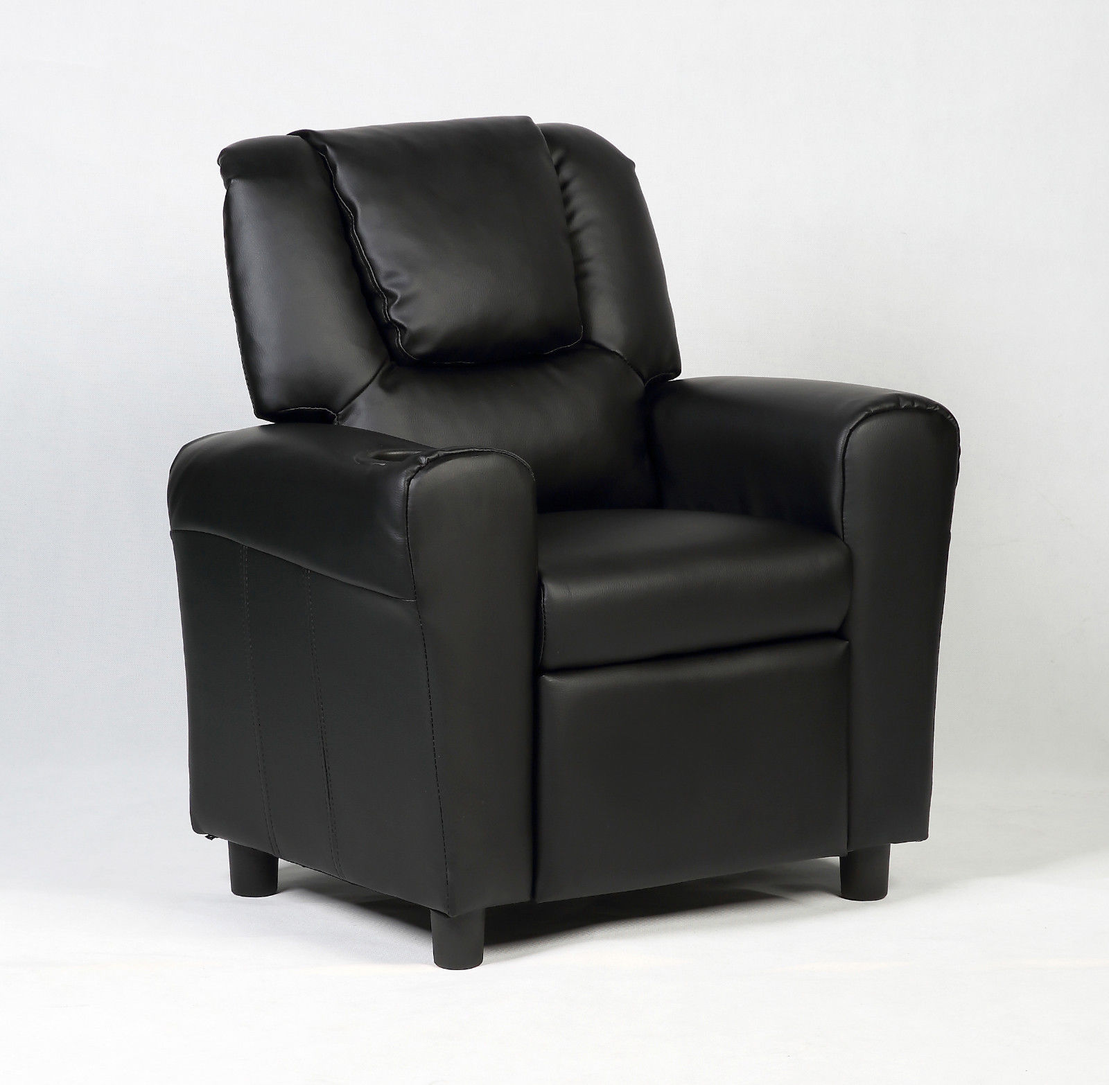 Costway Kids Recliner Armchair Children\u0027s Furniture Sofa Seat Couch Chair w/Cup Holder Black : cheap toddler recliner chairs - islam-shia.org