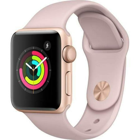 Apple Watch Generation 1 38MM Smart Watch in Rose Gold with Pink Sand Bands (Refurbished) ()