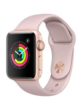Apple Watch Generation 1 38MM Smart Watch in Rose Gold with Pink Sand Bands (Refurbished)