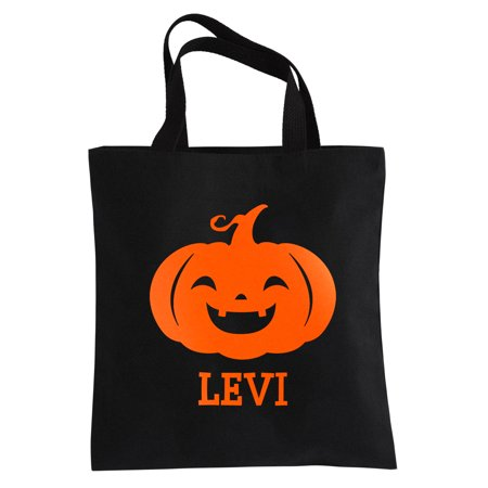 Personalized Ghostly Ghouls Halloween Reflective Treat Bag - Boy - Halloween Treat Bag Personalized