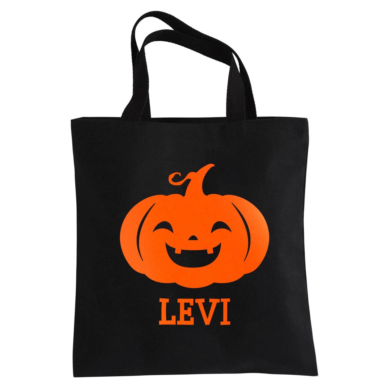 Personalized Ghostly Ghouls Halloween Reflective Treat Bag - Boy Pumpkin