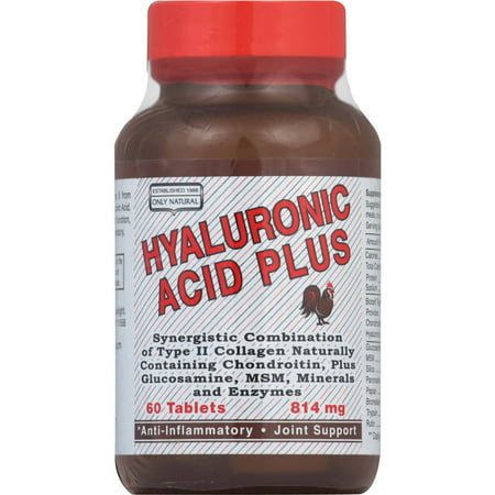 ONLY NATURAL Plus Acide hyaluronique Comprimés, 60 CT