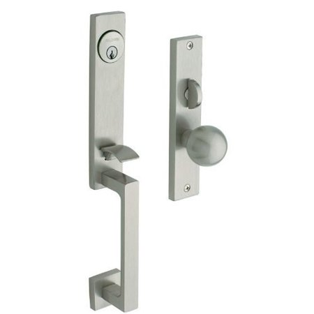 Baldwin Hardware Soho Single - Baldwin  6562.ENTR  Keyed Entry  New York  Mortise Lock  Single Cylinder  ;Lifetime Satin Nickel