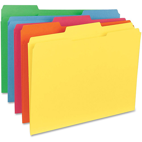 Sparco Bright 1/3-Cut 2-Ply Top Tab File Folders