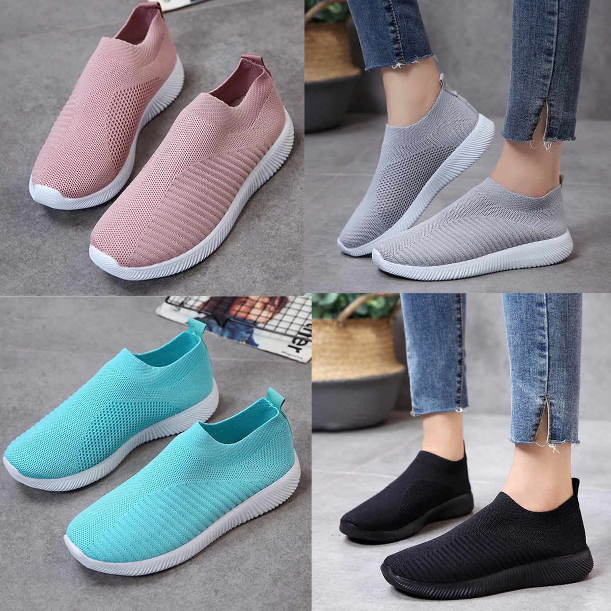 Sports Shoes for Men Blueberry Pattern Natural Fresh Canvas Slip-on Casual Printing Comfortable Low Top Girls Slip On Shoes