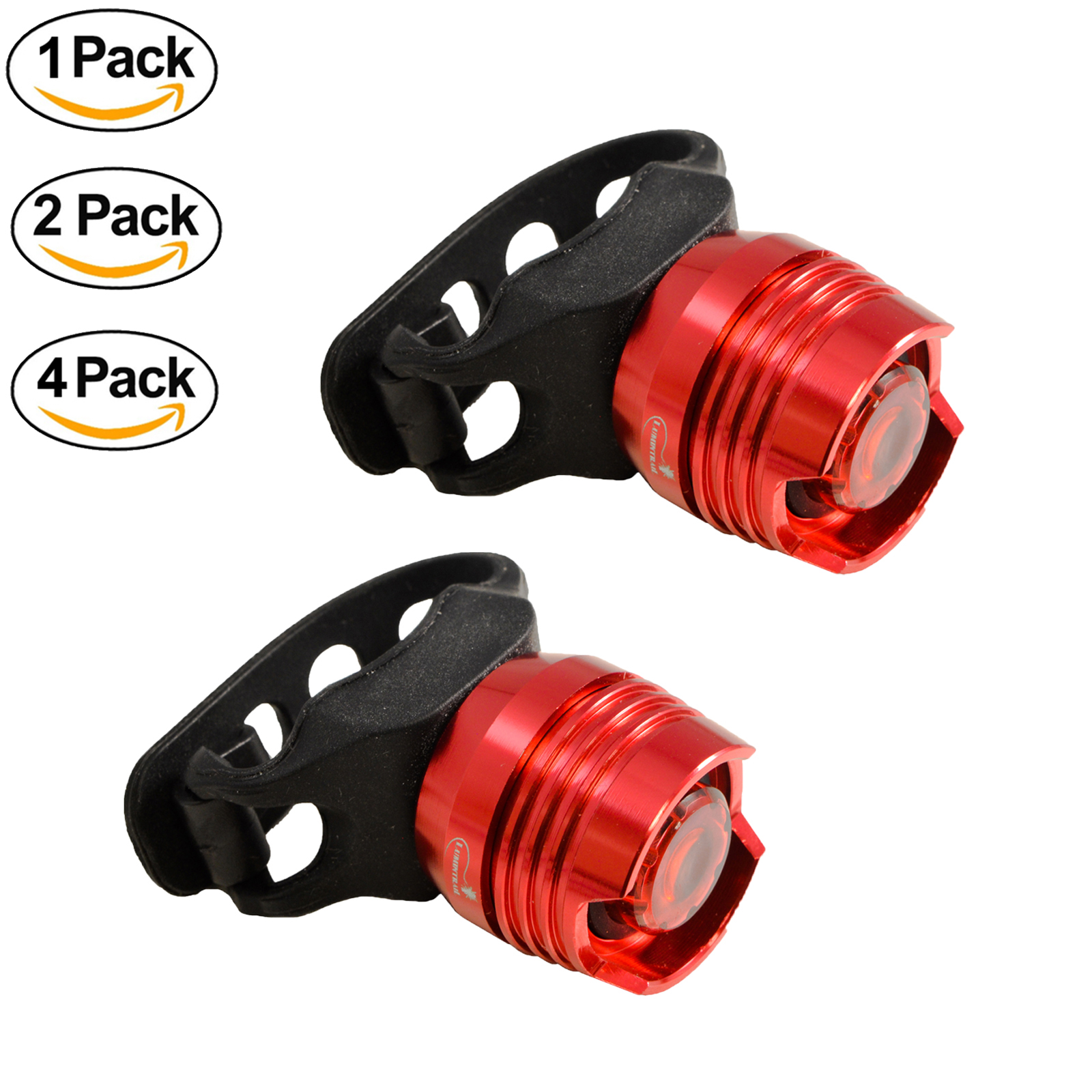 Lumintrail LTC-15 LED Bike Tail Light Waterproof High Intensity Cycling Rear Safety Taillight Batteries Included (2 Pack)