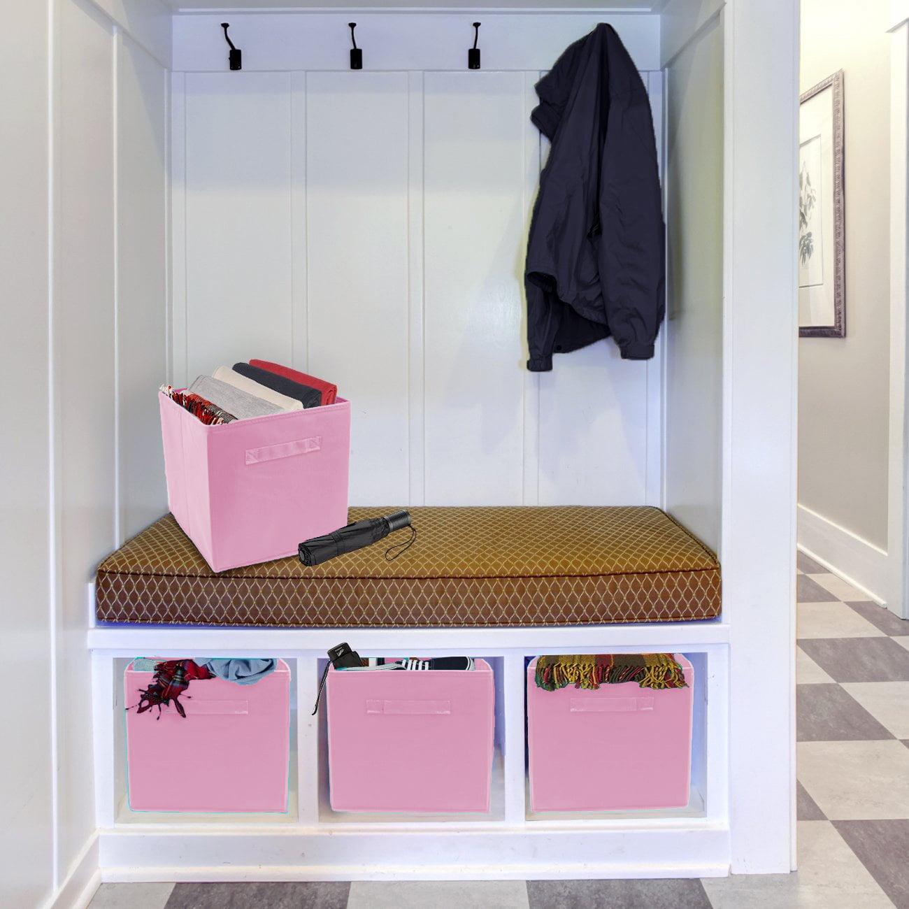 Sorbus Foldable Storage Cube Basket Bin - Great for Nursery, Playroom, Closet, Home Organization (6 Pack)