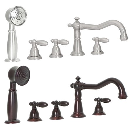 - FREUER Bellissimo Collection: Handshower Roman Tub Faucet - Multiple Finishes Available