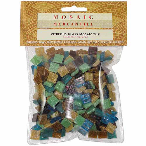 Mosaic Mercantile - Mini Italian Glass Tile - Firestone