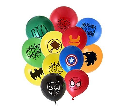24pcs Superhero Balloons 12 different patterns Captain America - Batman - Spiderman - Iron Man - Hulk - Raytheon - Panther - Haw