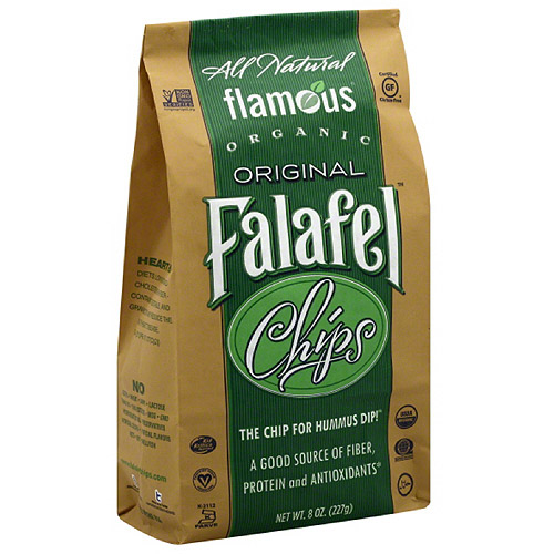 Flamous Falafel Original Organic Chips, 8 oz (Pack of 12)