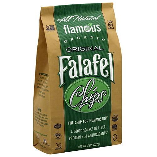 Flamous Falafel Original Organic Chips, 8 oz (Pack of 12)