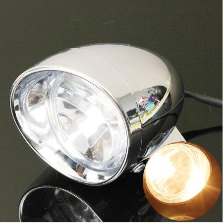4″ Motorcycle Bike Bullet Headlight Spot Fog Lamp For  Honda Suzuki Yamaha - image 5 de 6