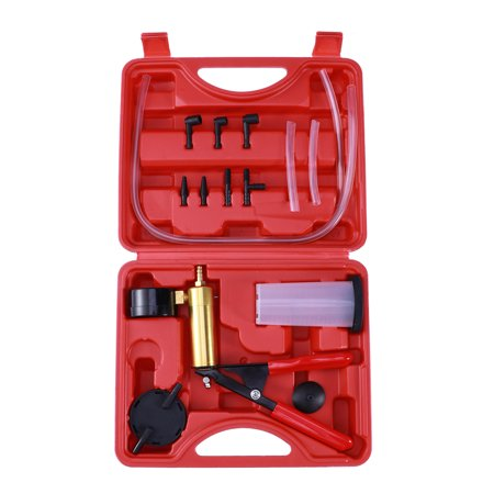 Brake Bleeder Adapter Set - Car Manual Handheld Vacuum Pump Brake Bleeder Professional Repair Tester Kit