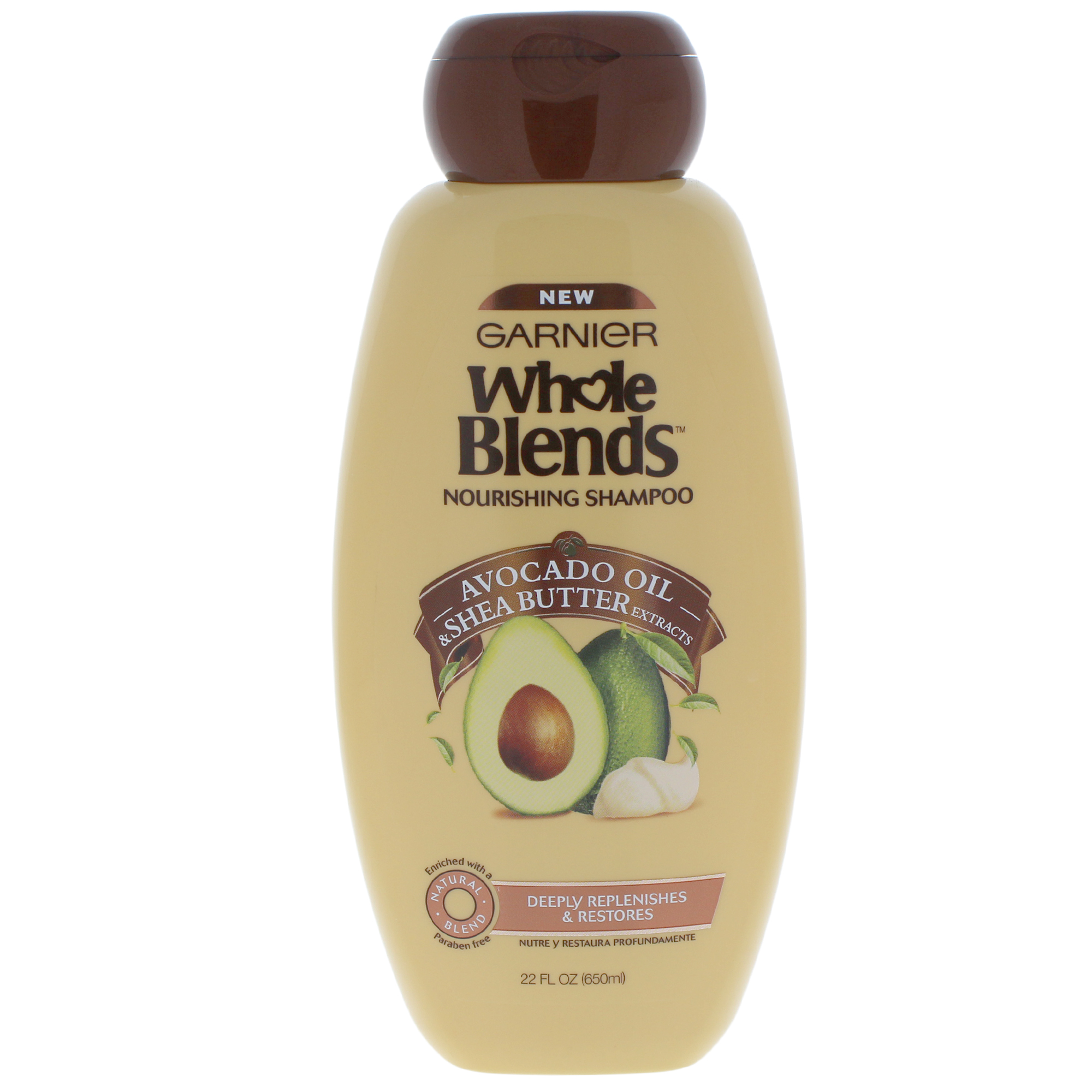 Garnier Whole Blends Shampoo with Avocado Oil & Shea Butter Extracts 22 FL OZ