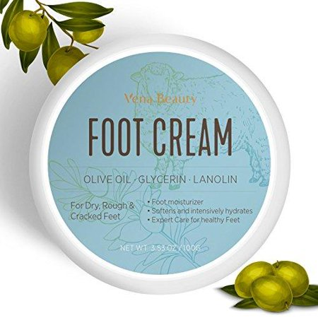 Foot Cream, Foot Moisturizer- Foot Repair Cream with olive oil Moisturizes and Rehydrates Feet - For Thick, Cracked, Rough, Dead & Dry
