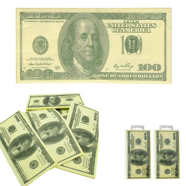 100 Dollar Bill Napkins Fake Money