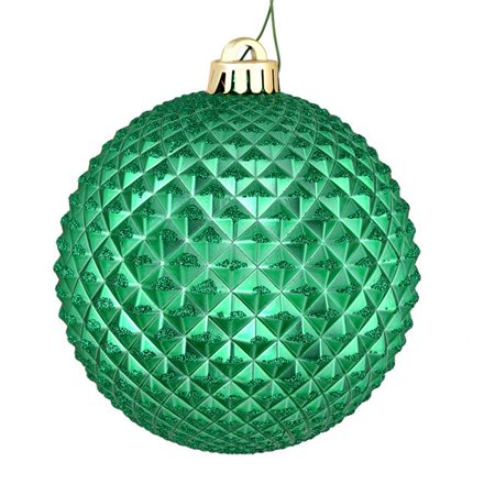 Vickerman N188744D 6 in. Seafoam Green Durian Glitter Ball Ornament with Drilled, 4 per Bag - Pack of 6 - image 1 of 1