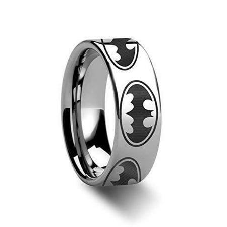 Thorsten Batman Dark Knight | Tungsten Rings for Men | Tungsten | Comfort Fit | Lifetime Guarantee | Super Hero Polished Engraved Ring Band - 8mm](Superhero Wedding)