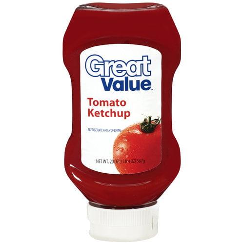 Great Value Tomato Ketchup, 20 oz