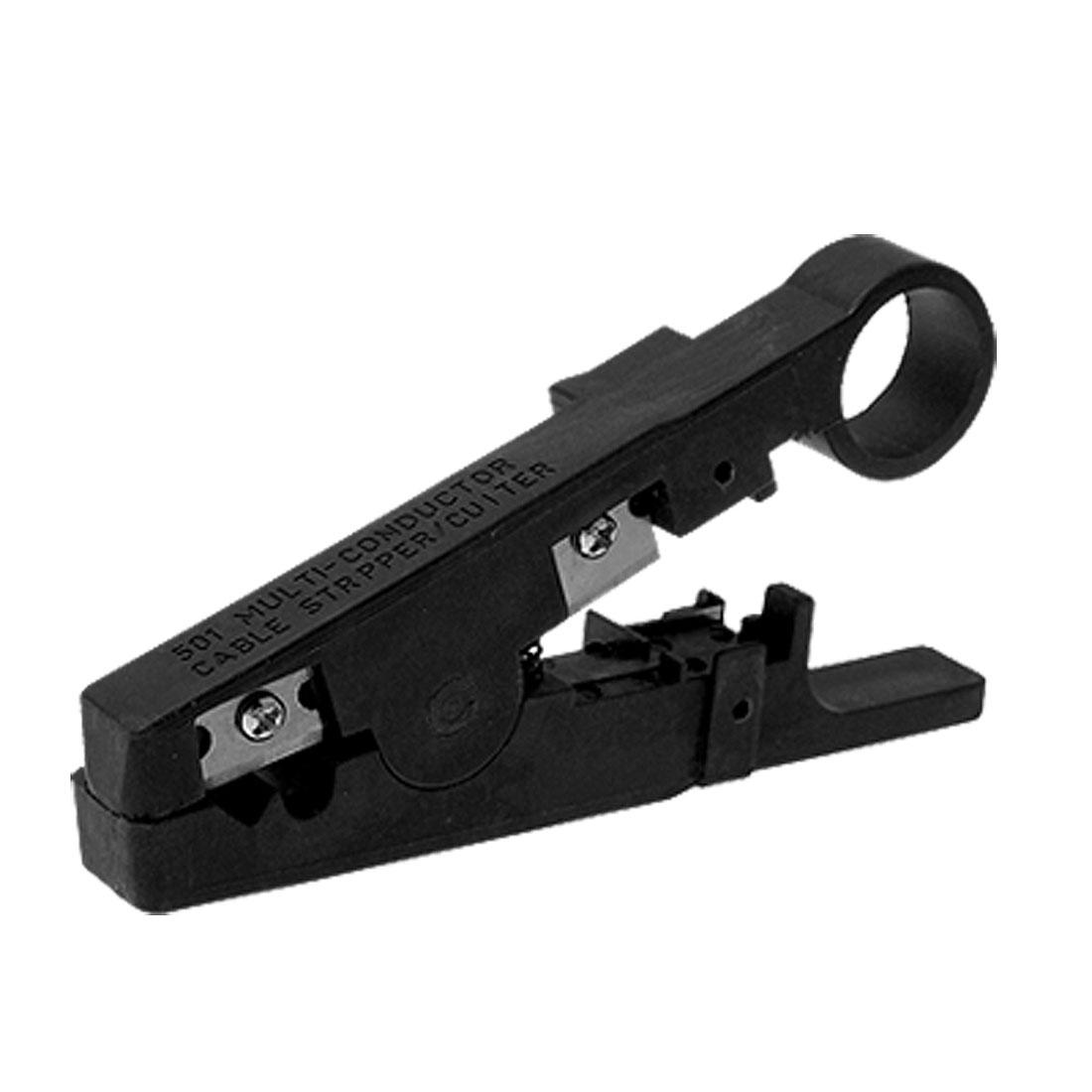 Unique Bargains Portable Resin Wire Cutting Cutter Stripper Plier Black