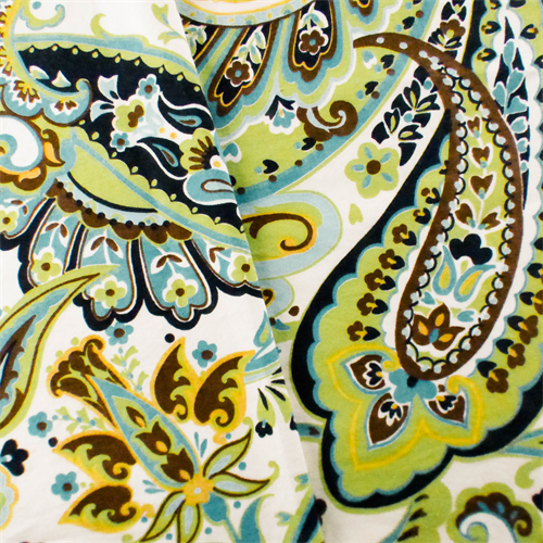 Green/Teal Designer Paisley Print Home Decorating Fabric, Fabric By the Yard