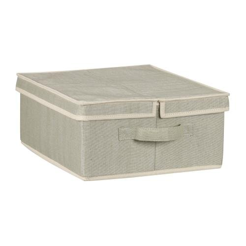 Household Essentials 68015 Large Dual Lidded Box in Tea and Fog