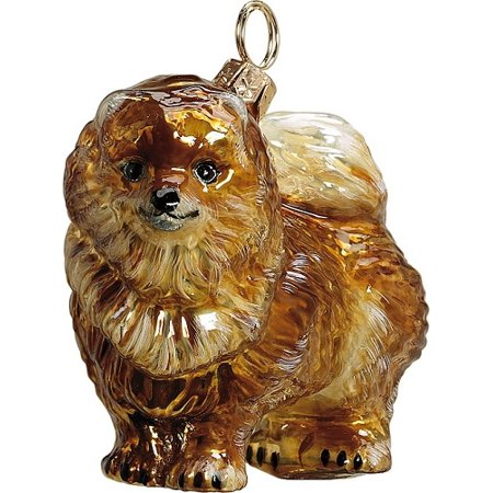 Pomeranian Polish Blown Glass Christmas Ornament Dog Decoration Made Poland