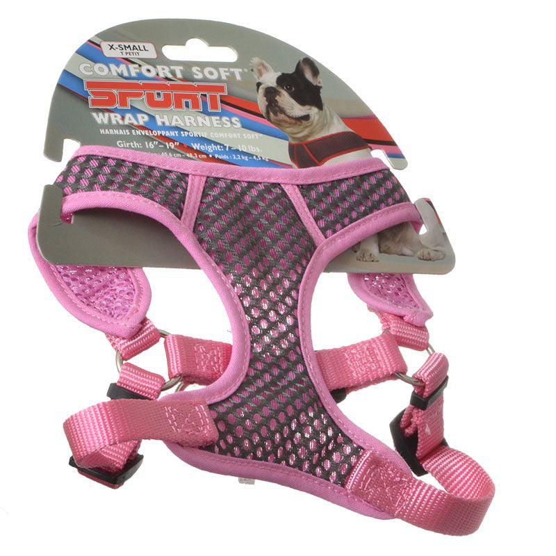 Coastal Pet Sport Wrap Adjustable Harness - Pink X-Small (Girth Size 16-19)