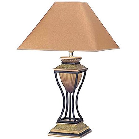 Ore international home decor table lamp antique bronze for Table decor international inc
