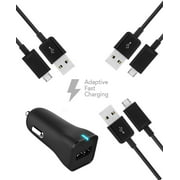 HTC Desire 620G dual sim Charger Micro USB 2.0 Cable Kit by TruWire { Wall Charger + 3 Micro USB Cable} True Digital Adaptive Fast Charging uses dual voltages for up to 50% faster charging!