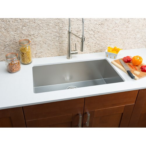 Hahn 32'' L x 18'' W Single Bowl Kitchen Sink